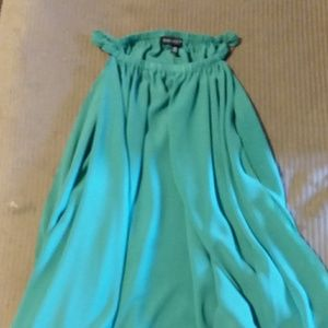 Saks Fifth Ave Green shoulder top